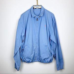 Men's Polo Bomber Style Jacket In Sky Blue